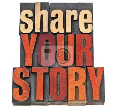 Teilen Sie Ihre Story-Typografie