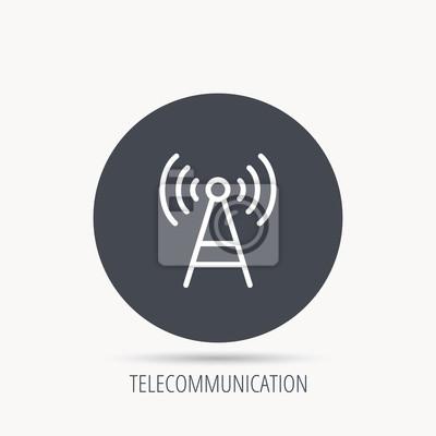 Telekommunikations-turm-symbol. signalzeichen. drahtloses wifi ...