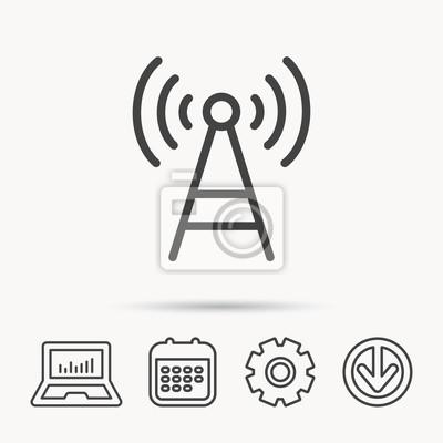 Telekommunikations-turm-symbol. signalzeichen wireless wifi netzwerk ...