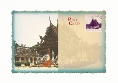 Tempel-Postkarte