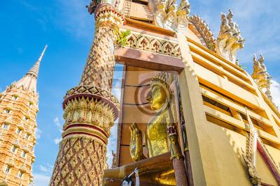 Fototapete Temple wat tham sua architektur berühmte szenische ansicht thamuang, kanchanaburi, thailand