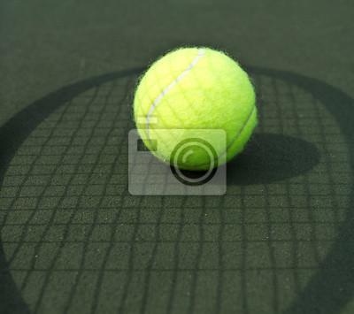 Tennis Ball and Tennis Raquet Shadow