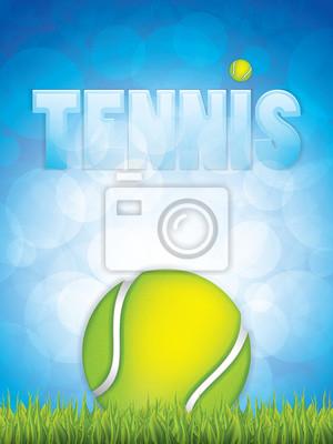 Tennis Ball auf Gras