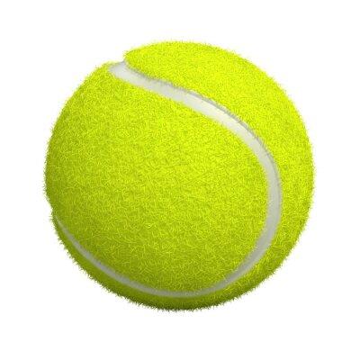 Fototapete Tennis Ball auf weißem Hintergrund - 3d render