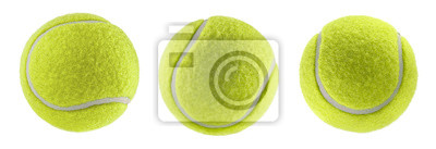 Fototapete tennis ball isolated white background - photography
