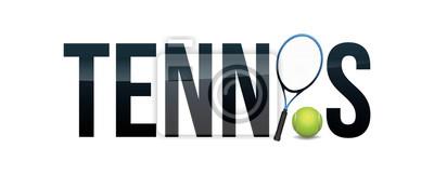 Tennis Concept Word Art Illustration