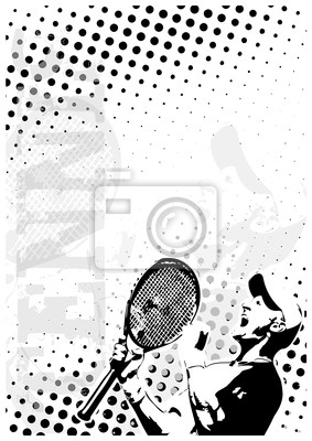 Tennis dots poster background