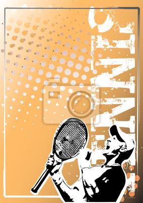Tennis golden poster background 2
