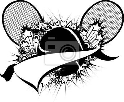 Tennis Starburst Pennant