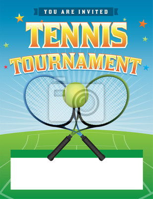 Tennis-Turnier Illustration