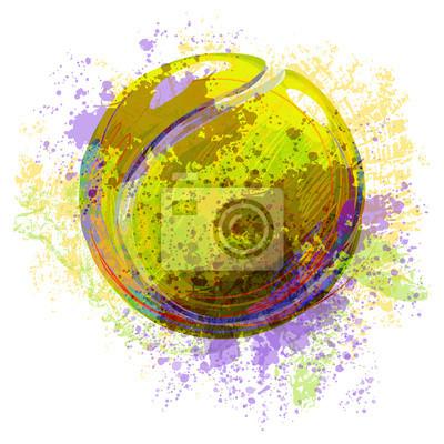 Tennisball Alle Elemente sind in separaten Ebenen und gruppierte.