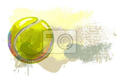 Tennisball-Banner Alle Elemente sind in separaten Ebenen und gruppierte.