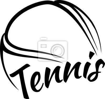 Tennisball mit Spaß Text