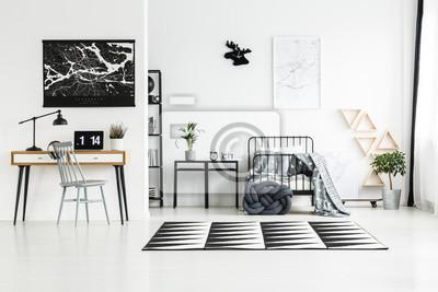 Fototapete: Teppich zwischen arbeitsbereich und schlafzimmer