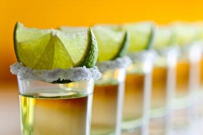 Fototapete Tequila, Kalk und Salz