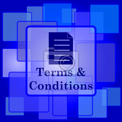 Terms and conditions icon fototapete • fototapeten Vereinbarungen ...