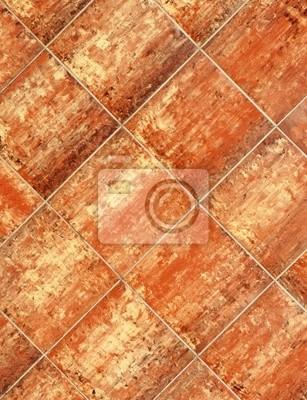 Terrakotta Fliesen Muster Terracotta Fliese Fototapete