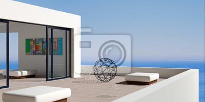 Terrasse moderne marine villa fototapete • fototapeten tour ...