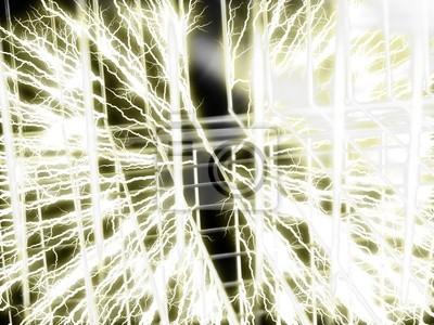 Tesla-spule - draht hintergrund fototapete • fototapeten horizontal ...