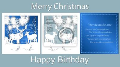 Text Frohe Weihnachten Alles Gute Zum Geburtstag Vektor