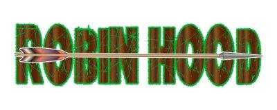 Text Robin Hood With Longbow Arrow