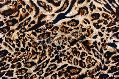 Fototapete Textur der Druckgewebe gestreiften Leoparden für den Hintergrund
