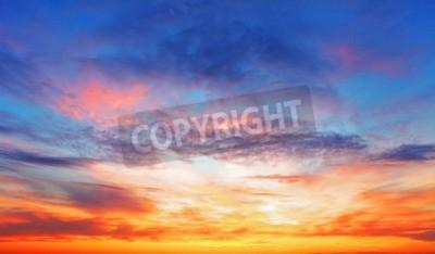 Fototapete Textur der hellen Abendhimmel während des Sonnenuntergangs