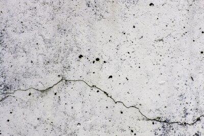 Fototapete Textur di sfondo di un muro, in Zement, con crepa che scorre orizzontalmente