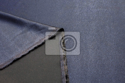 Fototapete Texture, background, pattern. Black Rayon Fabric for tailoring.