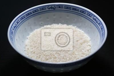 Thai Duft Reis in einem chinesischen Reisschüssel