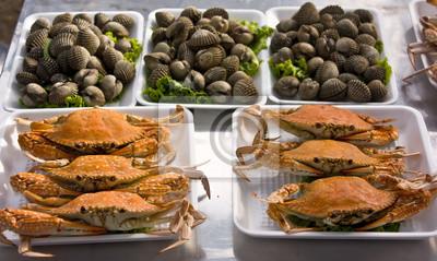 Thai gegrillte Meeresfrüchte.