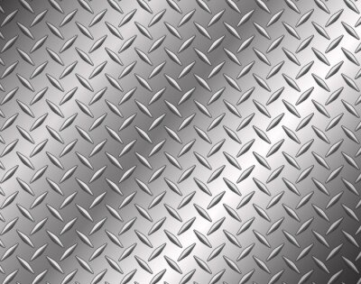 Fototapete The diamond steel metal texture background