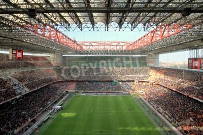 Fototapete The San Siro stadium during an AC Milan football game