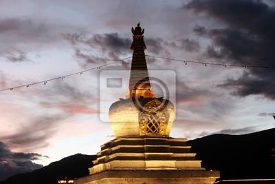 Tibetan Stupa in front of Potala Palace
