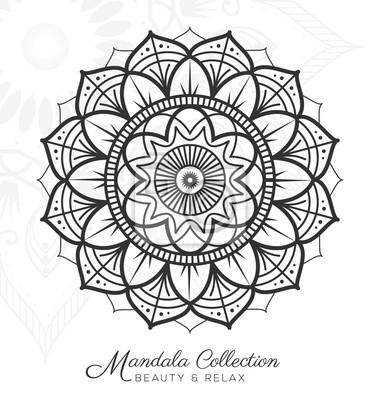 Tibetanischer mandala-dekorativer verzierungentwurf für färbende ...