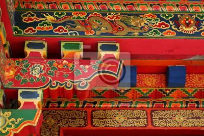 Tibetische Architektur Details 1