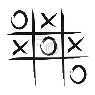 tic tac toe spiel vektor icon fototapete fototapeten tick keine cyberspace. Black Bedroom Furniture Sets. Home Design Ideas