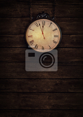 Fototapete Tickende Uhr