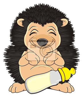 Fototapete Tier Haustier Karikatur Ostny Igel Nadeln Dorn Spielzeug