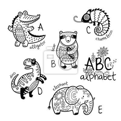 Fantastisch Malvorlagen Alphabet Tiere Galerie - Entry Level Resume ...