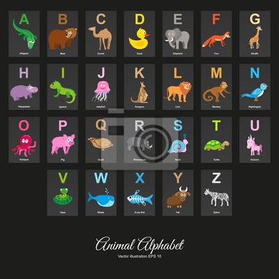 Tierisches Englisches Alphabet