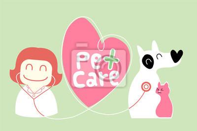 Tierpflege Illustration