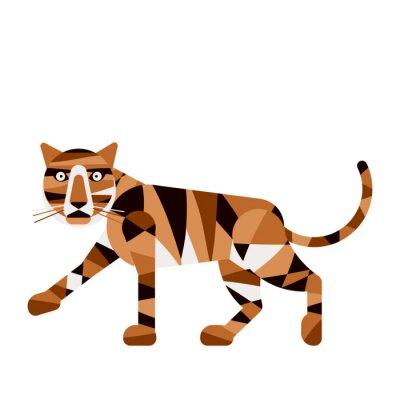 Fototapete Tiger abstrakt auf einem weißen background.Vector illustratio