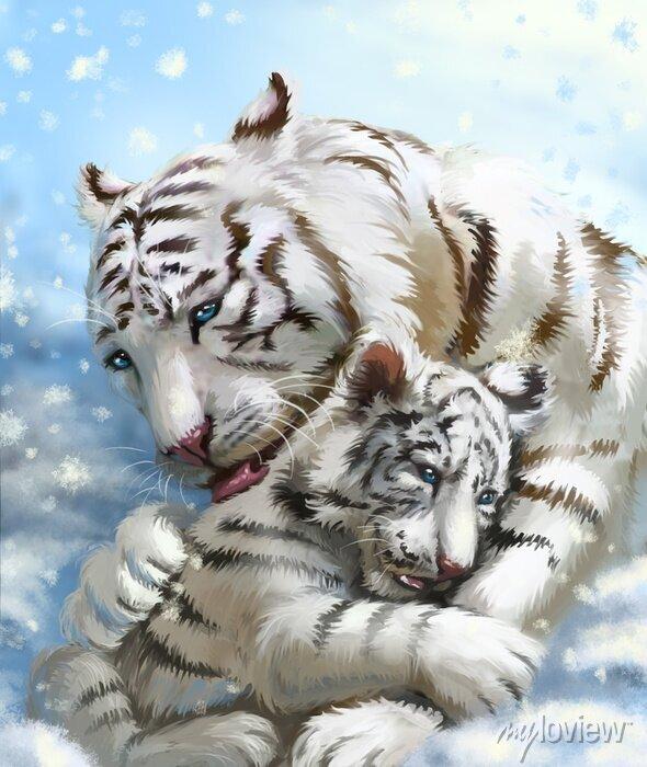 Fototapete Tiger-Familie