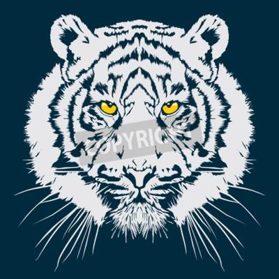 Fototapete Tiger-Kopf-Vektor-Illustration