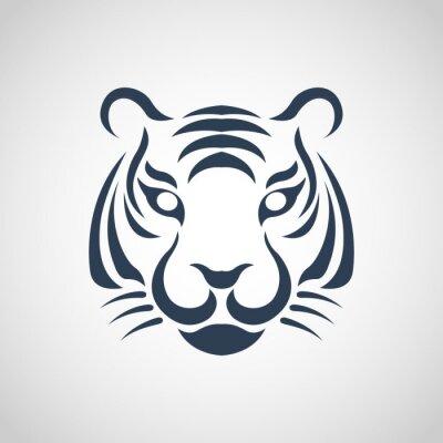 Fototapete tiger logo vector