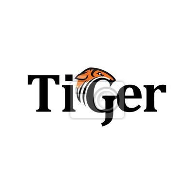 Tiger-logo-vektor. einzigartiger logovektor. symbolvorlage ...