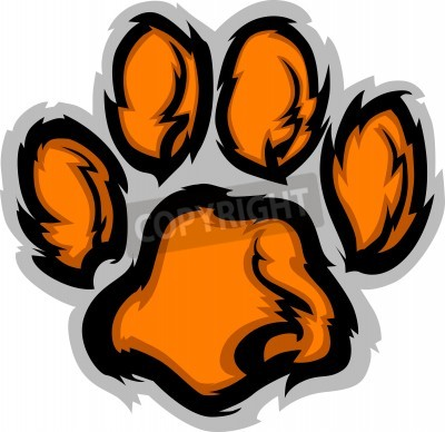 Fototapete Tiger Paw Graphic Mascot Vector Image
