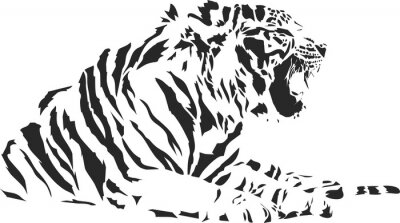 Fototapete Tiger_sitting