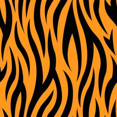 Fototapete Tiger Stripes Nahtlose Muster